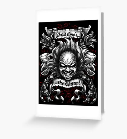Third Time's the Charm Greeting Card