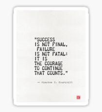Churchill's quote Sticker