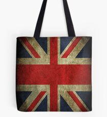 Antique Faded Union Jack UK British Flag Tote Bag