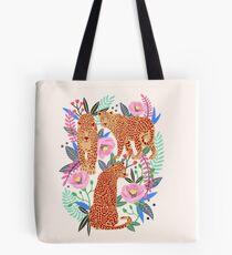 Leopard Idea, leopard print, animal print, flower print Tote Bag