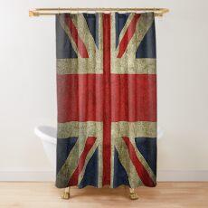 Antique Faded Union Jack UK British Flag Duschvorhang