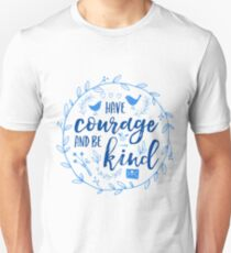 Have Courage and Be Kind Typography Cobalt Blue Unisex T-Shirt