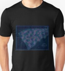 0154 Railroad Maps Map of North and South Carolina exhibiting the post offices post roads canals rail roads c By David H Burr Late topographer to the Post Office Geographer Inverted T-Shirt