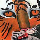 Tiger Head by Heidi Foreman