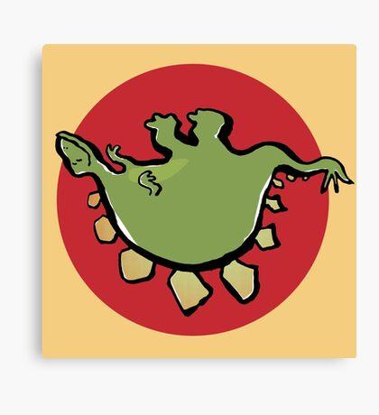 stegosaur upside down Canvas Print