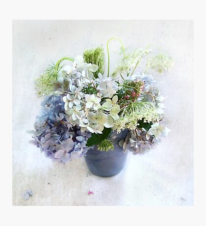 Summer Bouquet in Blue and White Photographic Print