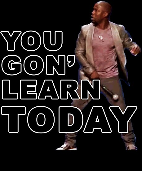 Image result for you gon learn today