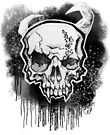 White Demon Skull by HelenArt