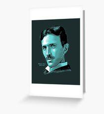 Nikola Tesla Portrait Science Electrical Greeting Card