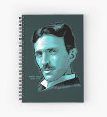 Nikola Tesla Portrait Science Electrical Spiral Notebook