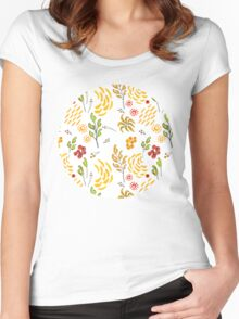 Tropical Watercolour  Women's Fitted Scoop T-Shirt