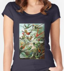 birds vintage cool design Women's Fitted Scoop T-Shirt