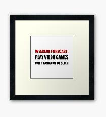 Play Video Games Sleep Framed Print