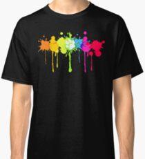 Camiseta clásica Puppy Pride Splash Rainbow