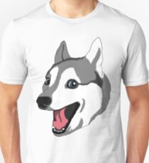 Happy Husky Unisex T-Shirt