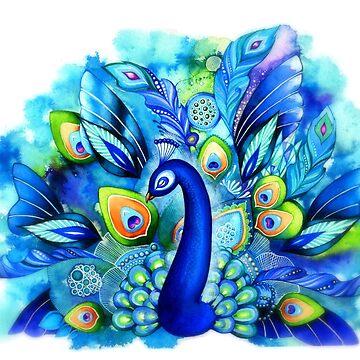 Peacock in Full Bloom by ClearJadeStudio