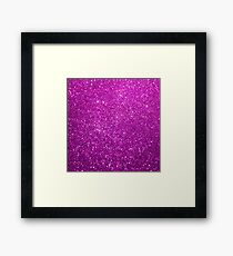 Purple Glitter Shiny Sparkley Framed Print
