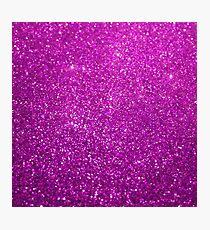 Purple Glitter Shiny Sparkley Photographic Print