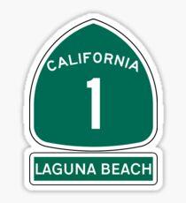 PACIFIC COAST HIGHWAY LAGUNA BEACH CALIFORNIA ROUTE 1 Sticker