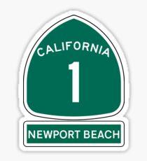 PACIFIC COAST HIGHWAY NEWPORT BEACH CALIFORNIA ROUTE 1 Sticker