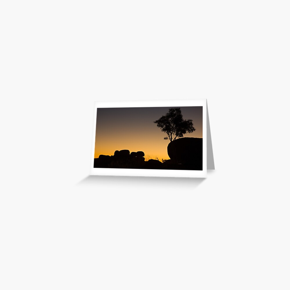 Marble Silhouettes - Devil's Marbles Conservation Reserve Greeting Card