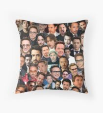 robert downey jr. collage Throw Pillow