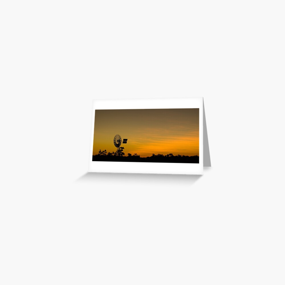Outback Sunset Greeting Card