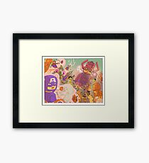 MARVELOUS BLOCKY Framed Print