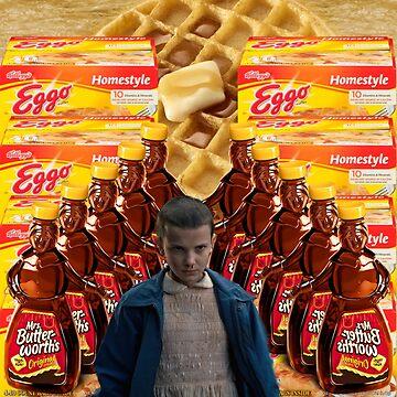 Stranger Things - Eleven - Eggo Aesthetic by onomikeypoeia