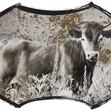 Heifer in the Flowers by cherylintexas