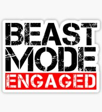 Beast Mode Engaged - Gym Phrase Sticker