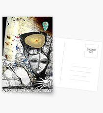 Gaia umarmen grün Postkarten