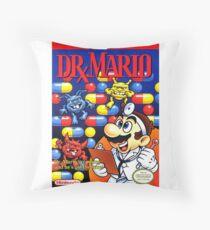 Dr. Mario Throw Pillow