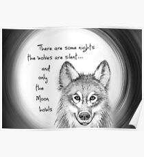 Only the Moon howls Poster