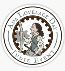 Ada Lovelace Day Indie Event Stickers! Sticker