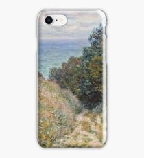 Claude Monet - Road at La Cavee, Pourville (1882)  iPhone Case/Skin