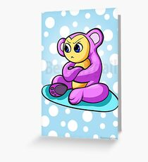 Mushu The Hungry Little Monster Greeting Card