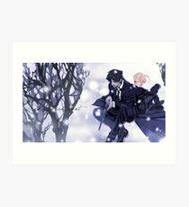 Fate Zero Saber and Kiritsugu Emiya Art Print