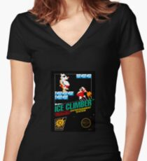 Ice Climber Women's Fitted V-Neck T-Shirt