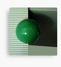 Green ball Canvas Print