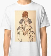 Egon Schiele - Portrait of the Artists Sister in Law, Adele Harms, 1917  Classic T-Shirt