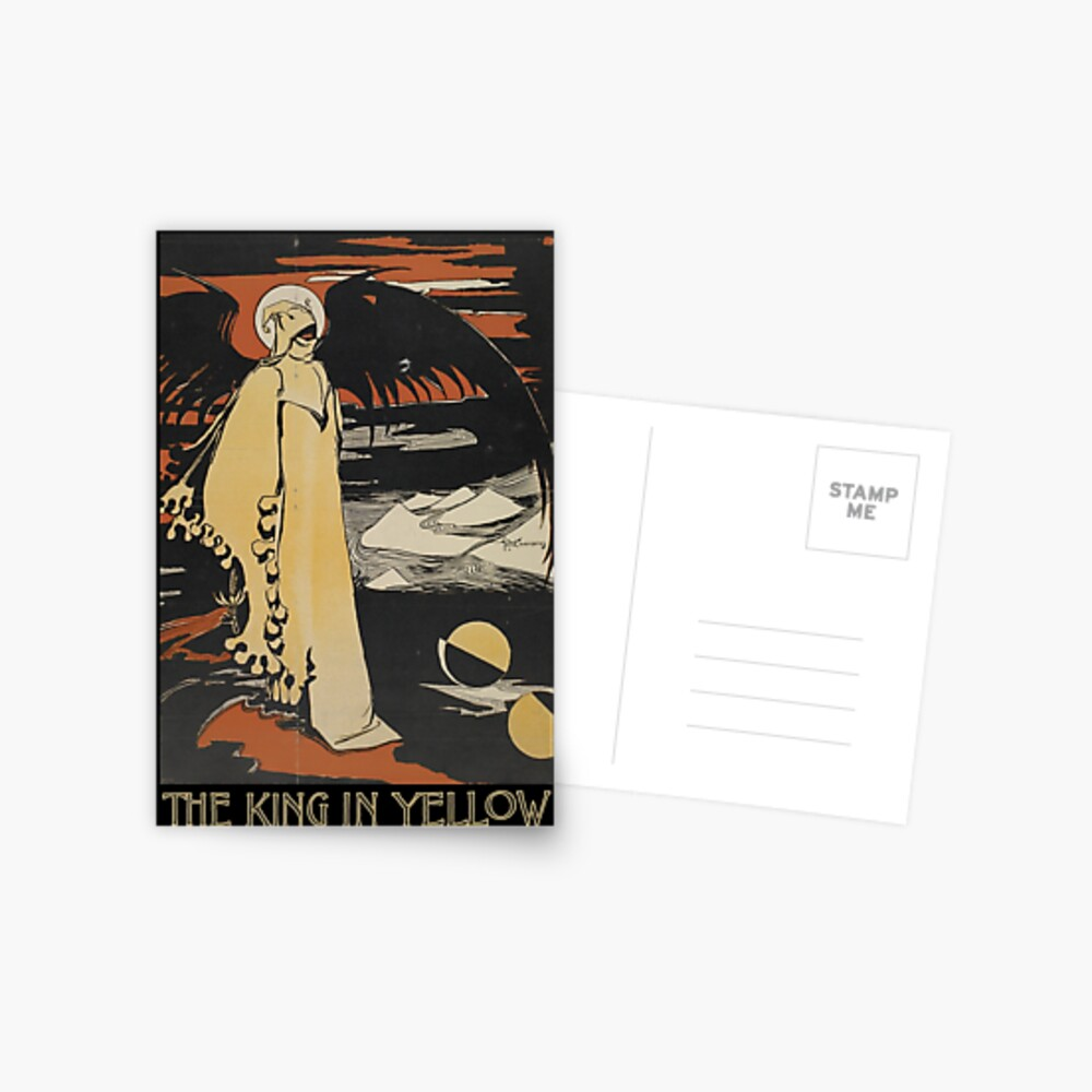 Robert W. Chambers 'König in Gelb Postkarte