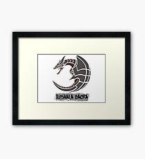 The Circular Steel Dragon Framed Print