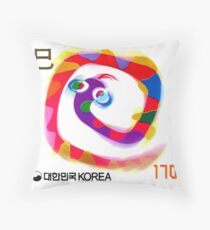 2000 Korea Year of the Snake Postage Stamp Throw Pillow