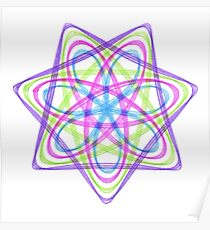 7 pointed spirograph 1 Poster