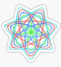 7 pointed spirograph 2 Sticker