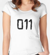 011 - Eleven Tattoo Design (Stranger Things) Women's Fitted Scoop T-Shirt