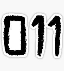 011 - Eleven Tattoo Design (Stranger Things) Sticker