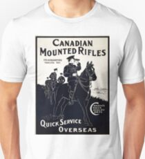 Vintage poster - Canadian Mounted Rifles Unisex T-Shirt