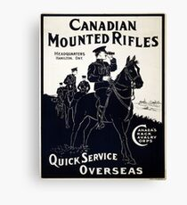 Vintage poster - Canadian Mounted Rifles Canvas Print